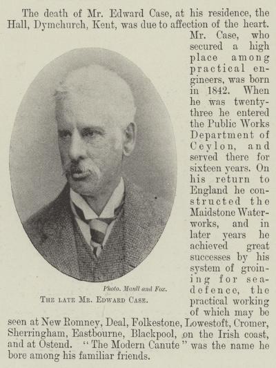 The Late Mr Edward Case--Giclee Print
