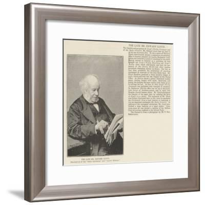 The Late Mr Edward Lloyd, Proprietor of the Daily Chronicle and Lloyd's Weekly--Framed Giclee Print