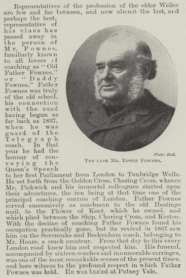 The Late Mr Edwin Fownes--Giclee Print
