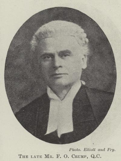 The Late Mr F O Crump--Giclee Print
