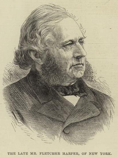 The Late Mr Fletcher Harper, of New York--Giclee Print
