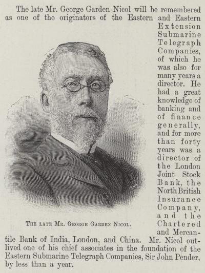 The Late Mr George Garden Nicol--Giclee Print