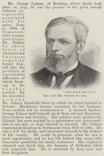 The Late Mr George Palmer--Giclee Print