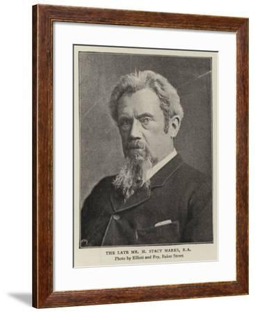 The Late Mr H Stacy Marks--Framed Giclee Print
