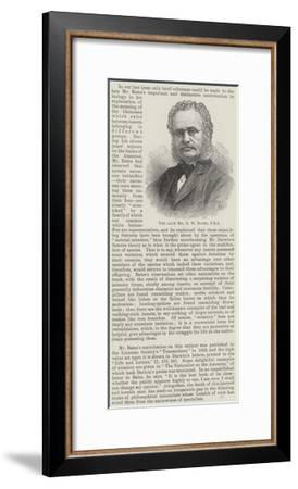 The Late Mr H W Bates--Framed Giclee Print