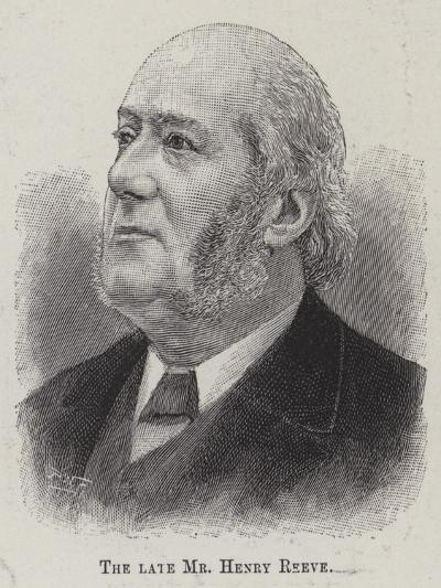 The Late Mr Henry Reeve--Giclee Print