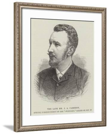 The Late Mr J a Cameron, Special Correspondent of the Standard, Killed on 19 January--Framed Giclee Print