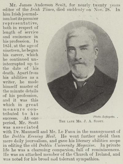 The Late Mr J a Scott--Giclee Print