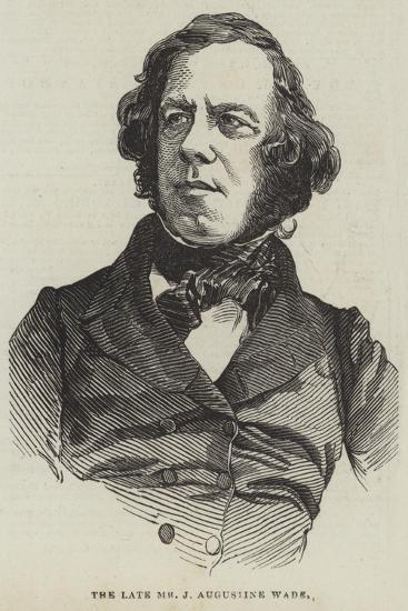 The Late Mr J Augustine Wade--Giclee Print