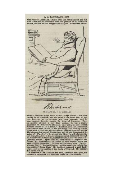 The Late Mr J G Lockhart--Giclee Print