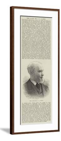 The Late Mr J L Latey--Framed Giclee Print
