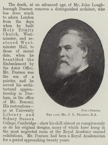 The Late Mr J L Pearson--Giclee Print