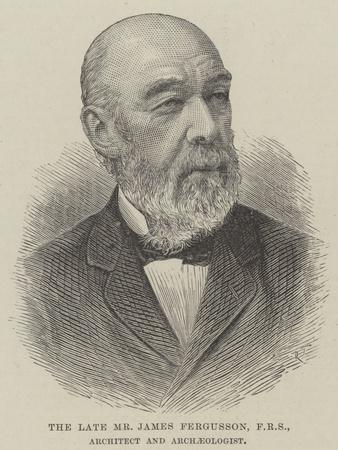 The Late Mr James Fergusson, Architect and Archaeologist--Giclee Print
