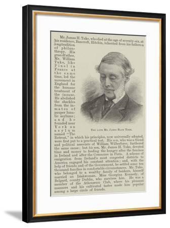 The Late Mr James Hack Tuke--Framed Giclee Print