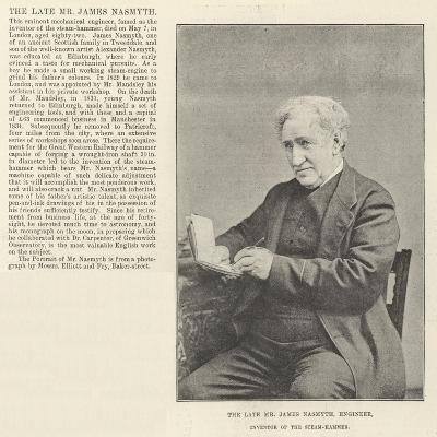 The Late Mr James Nasmyth, Engineer, Inventor of the Steam-Hammer--Giclee Print