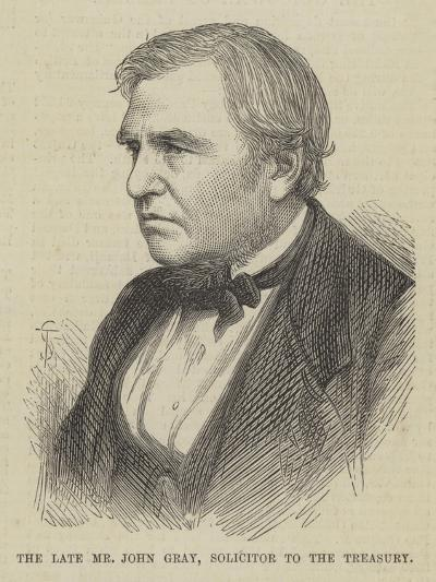 The Late Mr John Gray, Solicitor to the Treasury--Giclee Print