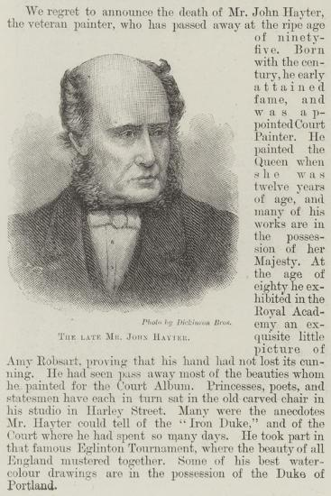 The Late Mr John Hayter--Giclee Print