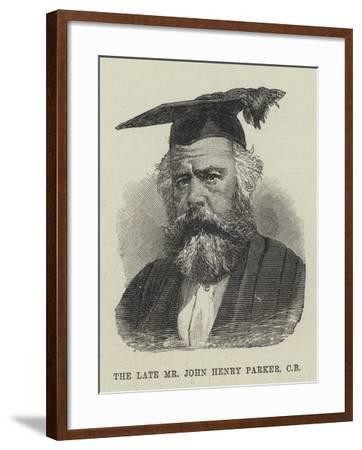 The Late Mr John Henry Parker--Framed Giclee Print
