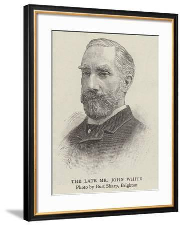 The Late Mr John White--Framed Giclee Print