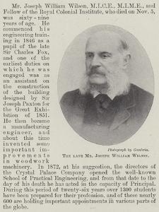 The Late Mr Joseph William Wilson