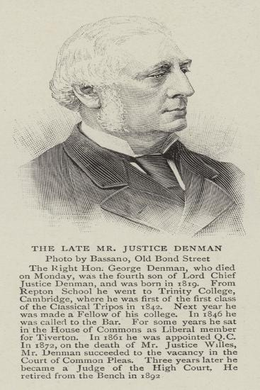 The Late Mr Justice Denman--Giclee Print