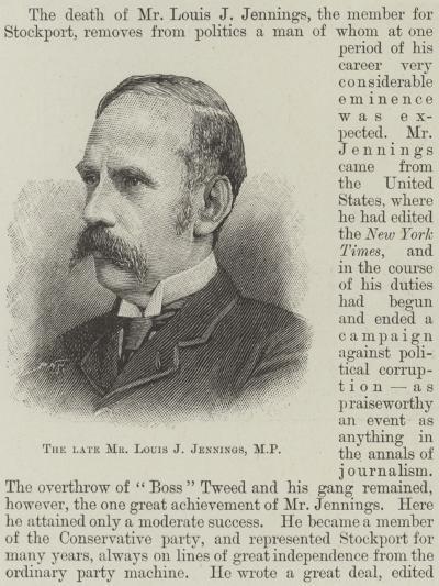 The Late Mr Louis J Jennings--Giclee Print