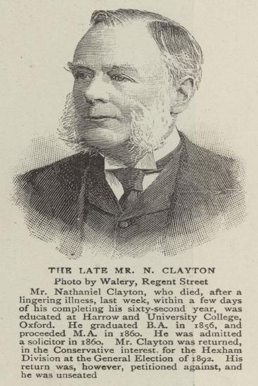 The Late Mr N Clayton--Giclee Print
