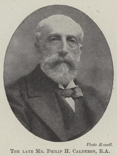 The Late Mr Philip H Calderon--Giclee Print