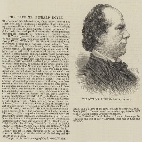 The Late Mr Richard Doyle, Artist--Giclee Print