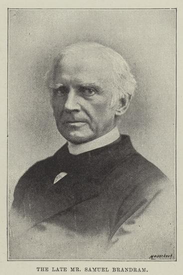 The Late Mr Samuel Brandram--Giclee Print