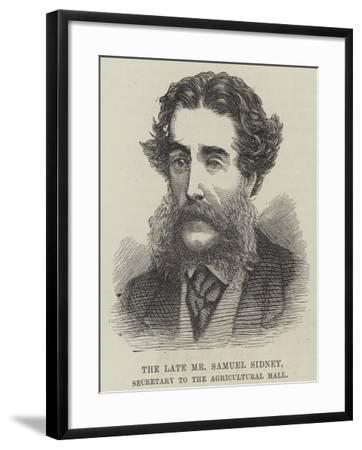 The Late Mr Samuel Sidney, Secretary to the Agricultural Hall--Framed Giclee Print