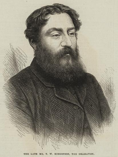 The Late Mr T W Robertson, the Dramatist--Giclee Print