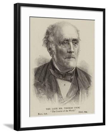 The Late Mr Thomas Cook--Framed Giclee Print