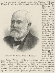 The Late Mr Thomas William Kennard