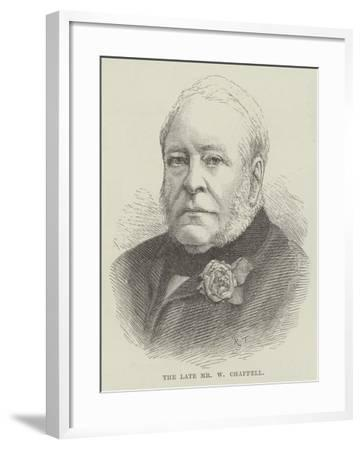 The Late Mr W Chappell--Framed Giclee Print