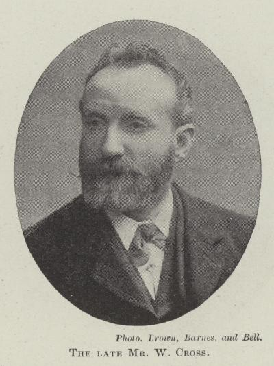 The Late Mr W Cross--Giclee Print