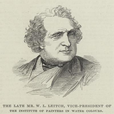 The Late Mr W L Leitch, Vice-President of the Institute of Painters in Water Colours--Giclee Print