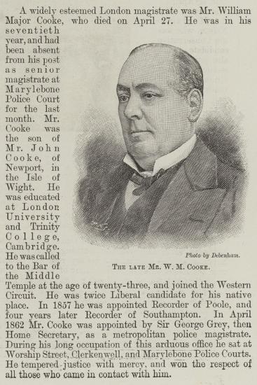 The Late Mr W M Cooke--Giclee Print