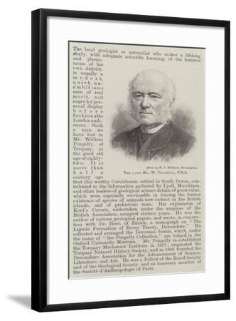 The Late Mr W Pengelly--Framed Giclee Print