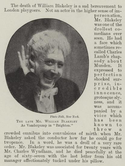The Late Mr William Blakeley as Vanderpump in Brighton--Giclee Print