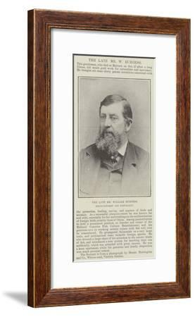 The Late Mr William Burgess, Pisciculturist and Naturalist--Framed Giclee Print