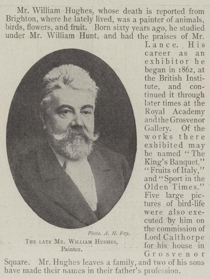 The Late Mr William Hughes, Painter--Giclee Print
