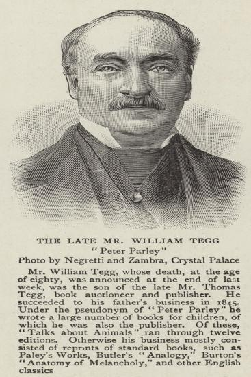 The Late Mr William Tegg--Giclee Print