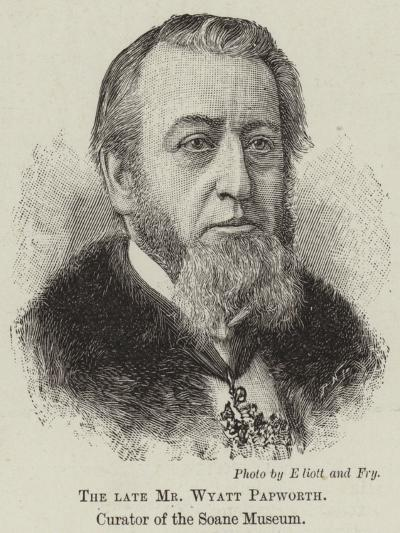 The Late Mr Wyatt Papworth, Curator of the Soane Museum--Giclee Print