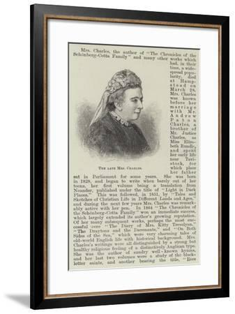 The Late Mrs Charles--Framed Giclee Print