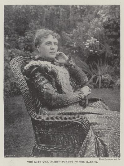 The Late Mrs Joseph Parker in Her Garden--Giclee Print