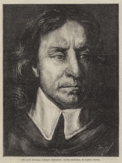 The Late National Portrait Exhibition, Oliver Cromwell-Samuel Cooper-Giclee Print