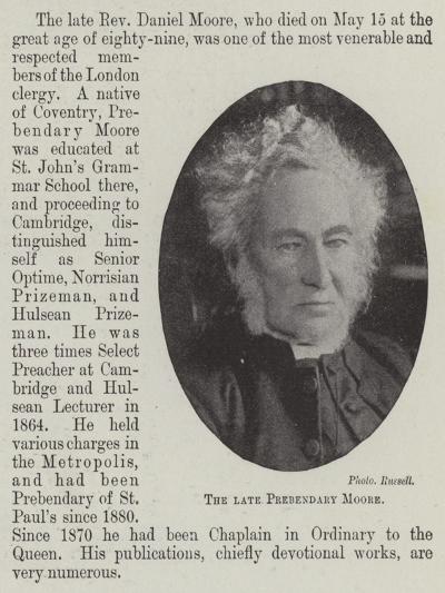 The Late Prebendary Moore--Giclee Print