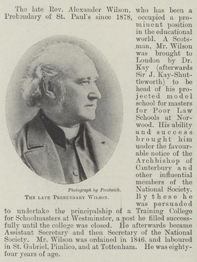 The Late Prebendary Wilson--Giclee Print
