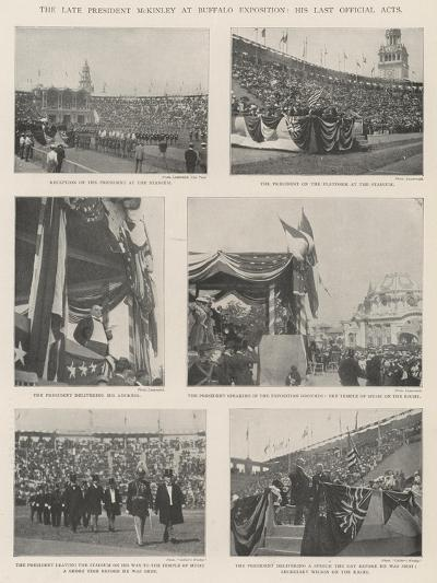 The Late President Mckinley at Buffalo Exposition, His Last Official Acts--Giclee Print